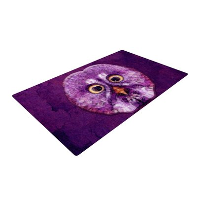 Ancello Hoot! Owl Purple Area Rug Rug Size: 2 x 3