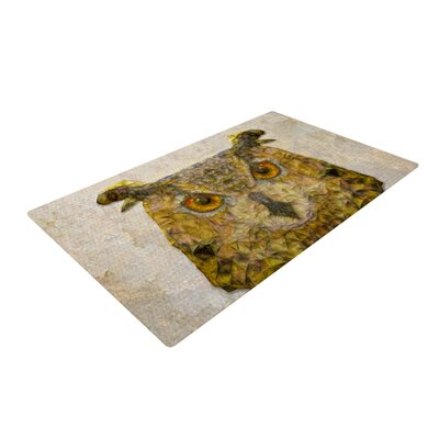 Ancello Owl Brown Area Rug Rug Size: 2 x 3