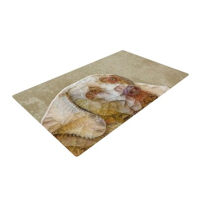 Ancello Abstract Dog Geometric Brown Area Rug Rug Size: 2 x 3