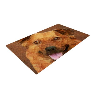 Ancello Abstract Puppy Geometric Brown Area Rug Rug Size: 2 x 3