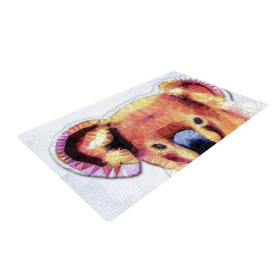 Ancello Cute Koala Orange/Pink Area Rug Rug Size: 2 x 3