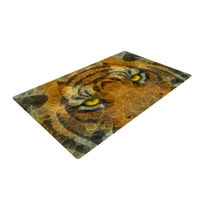 Ancello Be Wild Orange Area Rug Rug Size: 2 x 3