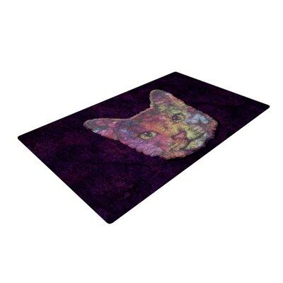 Ancello Rainbow Cat Pastel/Purple Area Rug Rug Size: 2 x 3