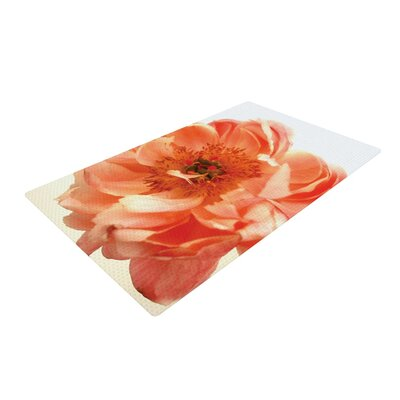Pellerina Design Blushing Peony Coral/White Area Rug Rug Size: 4 x 6