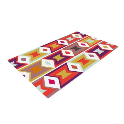 Pellerina Design Aztec Weave Orange/Purple Area Rug Rug Size: 4 x 6