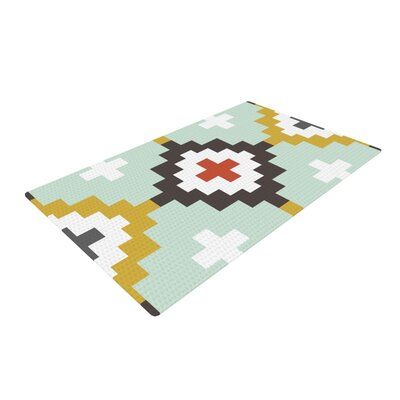 Pellerina Design Moroccan Diamonds Yellow/Green Area Rug Rug Size: 2 x 3