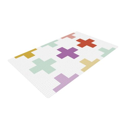 Pellerina Design Orchid Plus Mint/Purple Area Rug Rug Size: 2 x 3