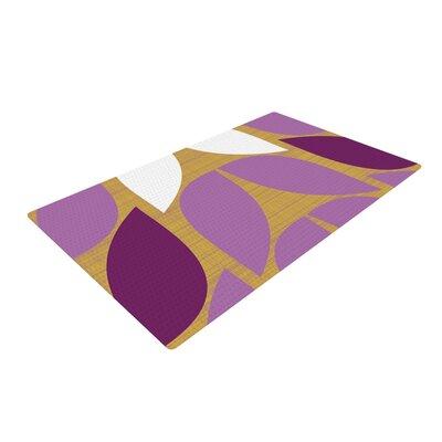 Pellerina Design Orchid Petals Purple/Tan Area Rug Rug Size: 2 x 3