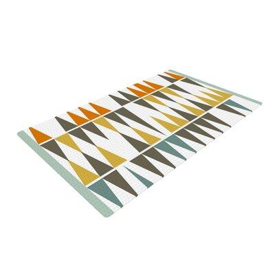 Pellerina Design Diamond Kilim Triangles White/Brown Area Rug Rug Size: 2 x 3