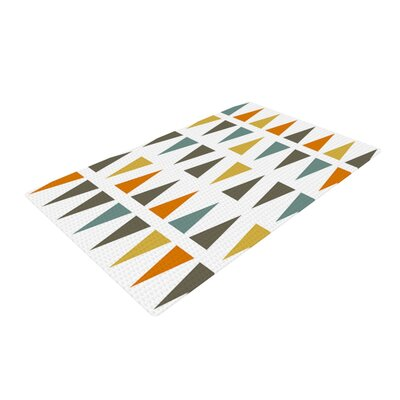 Pellerina Design Stacked Geo Triangles White Area Rug Rug Size: 4 x 6
