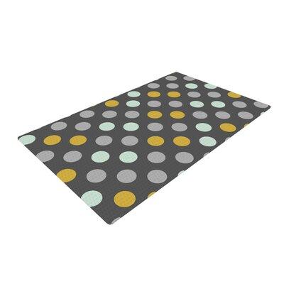 Pellerina Design Minty Polka Gray Area Rug Rug Size: 4 x 6