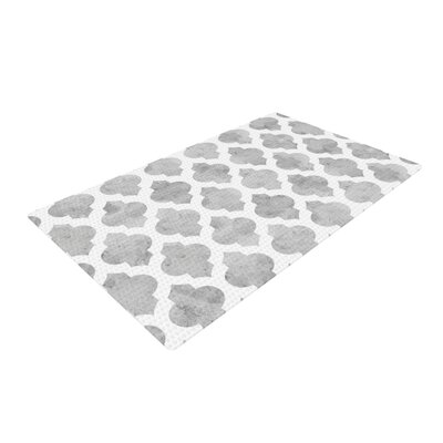 Amanda Lane Moroccan Gray/White Area Rug