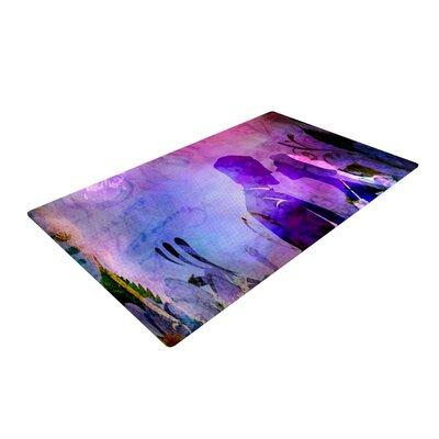AlyZen Moonshadow Couple Purple/Pink Area Rug Rug Size: 2 x 3