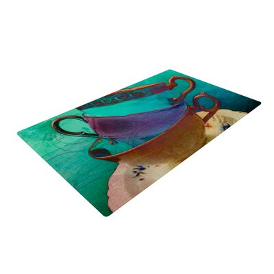 AlyZen Moonshadow Mad Hatters T Party I Turquoise Area Rug Rug Size: 4 x 6
