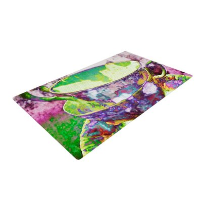 AlyZen Moonshadow Mad Hatters T Party II Green/Purple Area Rug Rug Size: 2 x 3