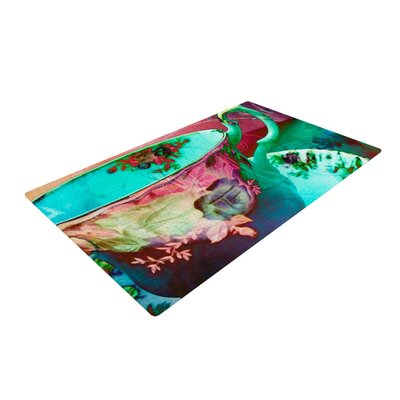 AlyZen Moonshadow Mad Hatters T Party VI Teal/Pink Area Rug Rug Size: 4 x 6