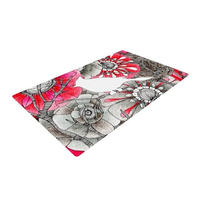 Anchobee Cardinal Red/Black Area Rug Rug Size: 2 x 3