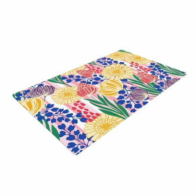 Amy Reber Pretty Bouquet Floral Yellow Area Rug Rug Size: 4 x 6