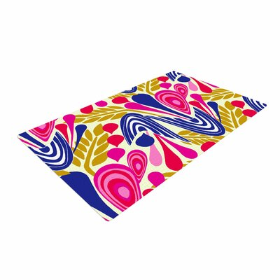 Amy Reber Bouquet Pink/Blue Area Rug Rug Size: 2 x 3