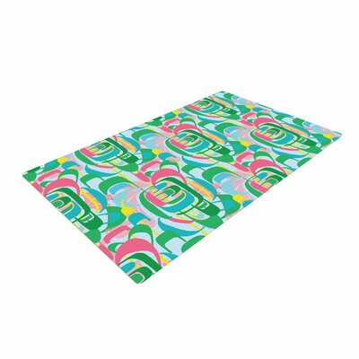 Amy Reber Rainbow Blue/Green Area Rug Rug Size: 4 x 6