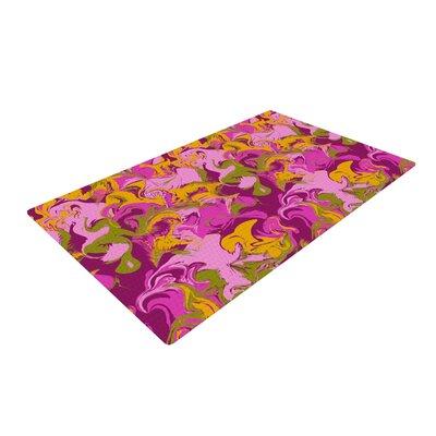 Anneline Sophia Marbleized Pink/Purple Area Rug Rug Size: 2 x 3