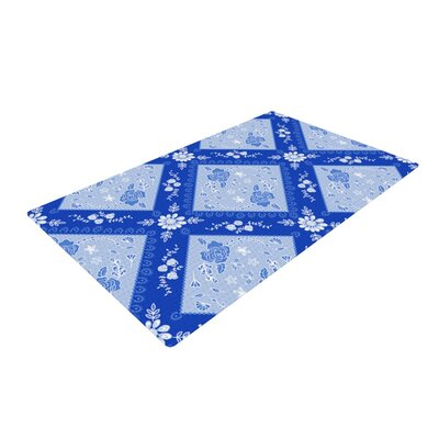 Anneline Sophia Diamonds Blue/White Area Rug Rug Size: 2 x 3