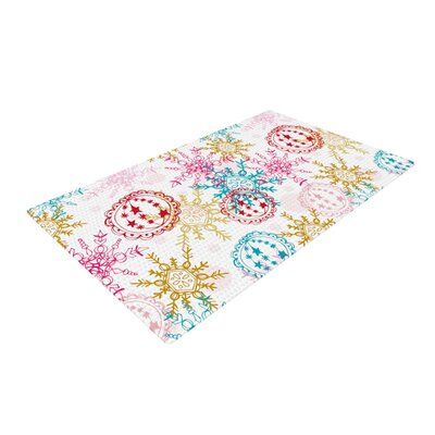 Anneline Sophia Let It Snow White Area Rug Rug Size: 4 x 6