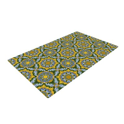 Alison Soupcoff Sunflower Blue/Yellow Area Rug Rug Size: 2 x 3