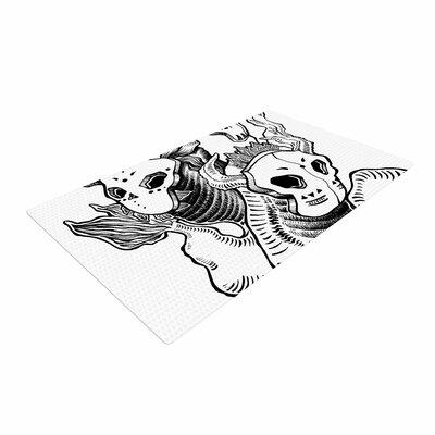 Anya Volk Masks Black/White Area Rug Rug Size: 2 x 3