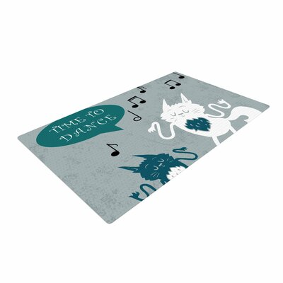 Anya Volk Time To Dance Green/White Area Rug Rug Size: 4 x 6