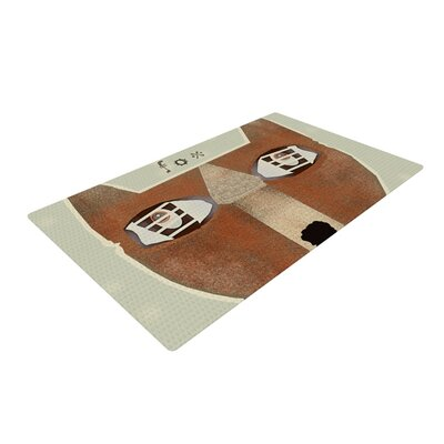 Bri Buckley Fox Face Brown/Tan Area Rug Rug Size: 2 x 3