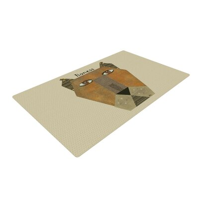Bri Buckley Lioness Tan/Yellow Area Rug Rug Size: 2 x 3