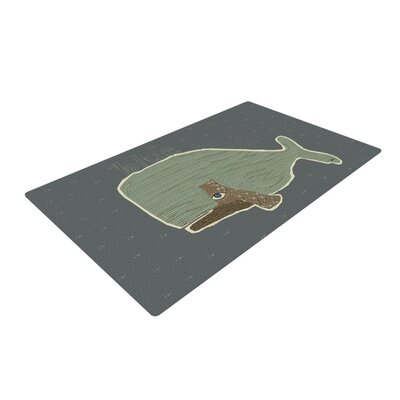 Bri Buckley Whale Blue/Green Area Rug Rug Size: 4 x 6