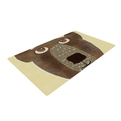 Bri Buckley Bear Brown/Tan Area Rug Rug Size: 4 x 6