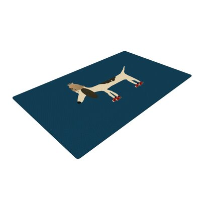 Bri Buckley Chien Blue Area Rug Rug Size: 2 x 3
