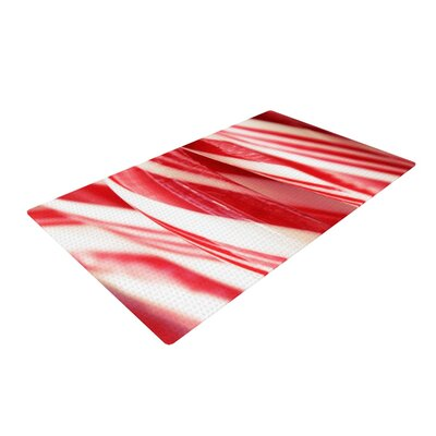 Beth Engel the Painted Forest Candy Cane White/Red Area Rug Rug Size: 2' x 3'
