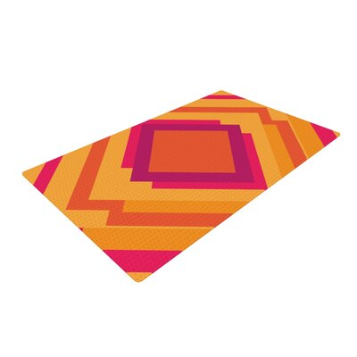 Belinda Gillies Diamond Dayze Orange/Pink Area Rug Rug Size: 4' x 6'