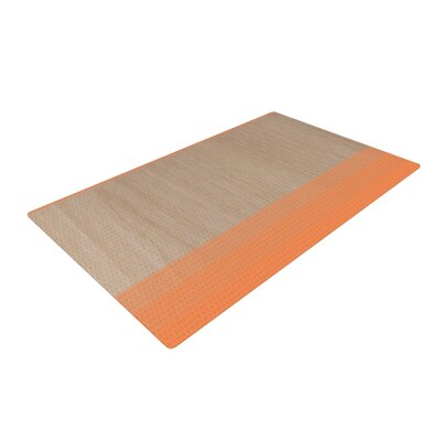 Brittany Guarino Art Wood Orange Area Rug Rug Size: 2' x 3'