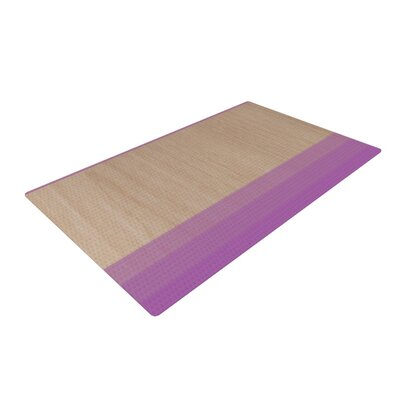 Brittany Guarino Art Wood Lavender Area Rug Rug Size: 2 x 3