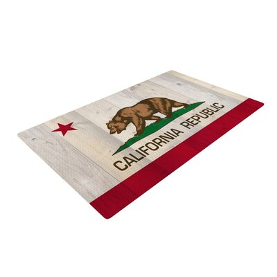 Bruce Stanfield California Flag Wood Brown Area Rug Rug Size: 2 x 3
