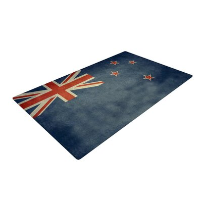 Bruce Stanfield Flag of New Zealand Blue Area Rug Rug Size: 4 x 6