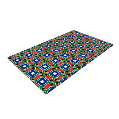 Bruce Stanfield South Africa Blue/Red Area Rug Rug Size: 4 x 6