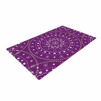 Cristina Bianco Design Mandalas Geometric Purple Area Rug Rug Size: 4 x 6