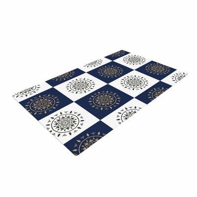 Cristina Bianco Design Mandalas Pattern Navy Area Rug Rug Size: 4 x 6