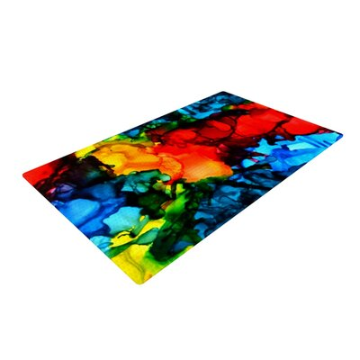 Claire Day Family Photos III Blue/Red Area Rug Rug Size: 2 x 3