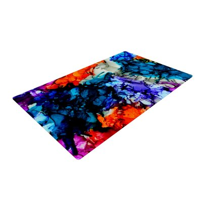 Claire Day Evanescence Rainbow Blue Area Rug Rug Size: 4 x 6