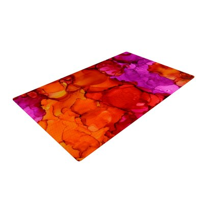 Claire Day Fierce Pink/Orange Area Rug Rug Size: 2 x 3