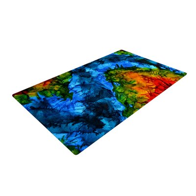 Claire Day Flow Blue/Green Area Rug Rug Size: 2 x 3