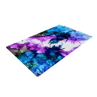 Claire Day Utopia Blue/Pink Area Rug Rug Size: 4 x 6