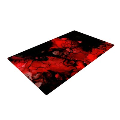 Claire Day Vesuvius Dark Red Area Rug Rug Size: 2 x 3